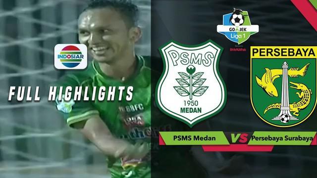 PSMS Medan pesta gol kala menghadapi Persebaya Surabaya dengan skor 4-0 dalam lanjutan Gojek Liga 1 2018 bersama Bukalapak, Sabtu (1/12/2018).
