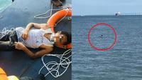 Tidak Dapat Surat Jalan, Pria Ini Nekat Sebrangi Selat dengan Berenang. (Sumber: Worldofbuzz)