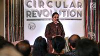 Ketua Dekranasda Bali Putri Suastini Koster saat memaparkan dukungannya terhadap acara Circular Revolution di Bali, Senin (22/7/2019). Dukungan ini bertujuan melestarikan lingkungan melalui sinergi seluruh pemangku kepentingan melalui sosialisasi gerakan sosial #SayaAjaBisa. (Liputan6.com/HO/Ading)