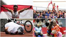 Momen Pilihan Asian Para Games 2018 Hari ke-7 diwarnai dengan selebrasi emosional pebalap sepeda M Fadli hingga kesedihan pebulu tangkis putri, Leani Ratri Oktila, usai ditaklukkan wakil Cina di final. (Tim Bola.com)
