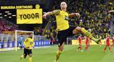 Erling Haaland saat ini merupakan predator haus gol bagi Borussia Dortmund. Jumlah gol striker 21 tahun itu ternyata lebih banyak ketimbang jumlah penampilannya di Die Borussen. (AP/Bernd Thissen)