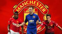Manchester United - Wilfried Zaha, Jonny Evans, Ander Herrera (Bola.com/Adreanus Titus)