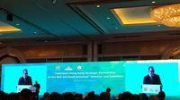 Ketua Umum Kadin Indonesia, Rosan Roeslani dalam forum Belt and Road Initiative di Jakarta (Foto: Maulandy Rizky Bayu Kencana/Liputan6.com)