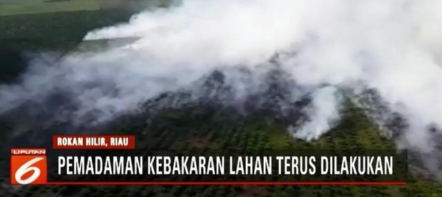 Kebakaran hutan dan lahan yang melanda sejumlah wilayah di Riau sepekan terakhir terus meluas, petugas upayakan pemadaman melalui darat dan udara.