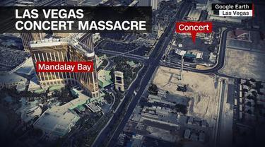 Lokasi penembakan massal Los Angeles. (Google Earth)