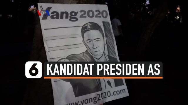 Ada lebih dari selusin kandidat yang akan mengajukan diri untuk melawan Presiden A-S Donald Trump dalam pilpres AS tahun depan. Salah satunya adalah Andrew Yang, kandidat keturunan Asia pertama yang mencalonkan diri secara serius untuk menduduki Gedu...