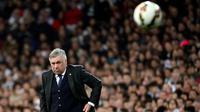 2. Carlo Ancelotti (Juni 2013-Mei 2015), 74,8%, salah satu pelatih sukses yang berhasil menukangi Real Madrid. (AFP/Dani Pozo)