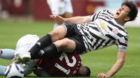 Begitu juga dengan Harry Maguire, hingga dirinya dilanggar keras oleh Anwar El Ghazi dan tidak dapat melanjutkan pertandingan dikarenakan cedera. (Foto: AFP/Pool/Nick Potts)