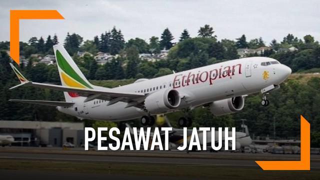 Pesawat Ethiopian Airlines tujuan Nairobi, Kenya, jatuh tak lama setelah lepas landas. Sekitar 149 penumpang dan 8 kru pesawat berada di dalamnya.