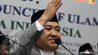 Di Gedung MUI, (21/4/14), Ketua Umum MUI Din Syamsuddin, menyerukan kepada semua parpol Islam untuk menyatukan suara dalam Pilpres 9 Juli 2014 nanti. (Liputan6.com/Faizal Fanani)