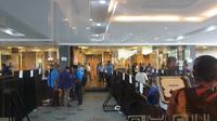 Suasana di Kongres PAN di Kendari, Sulawesi Tenggara, Selasa (11/2/2020). (Liputan6.com/ Nanda Perdana Putra)