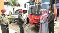 Badan Intelijen Negara (BIN) menggelar Swab antigen di Ponpes Daarul Aytam As Shoffy, Gunung Putri, Bogor, Jawa Barat, Senin (24/5/2021).