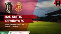 Bali United Vs Sriwijaya FC (Bola.com/Adreanus Titus)