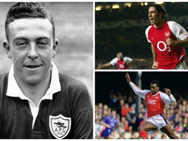 Dari Liam Brady sampai Robert Pires, inilah 6 pesepak bola bernomor 7 terbaik di Arsenal. (AFP-Squawka)