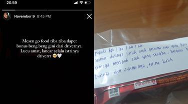 Driver Ojol Beri Pelanggan Bingkisan dan Minta Doa untuk Anaknya yang Baru Lahir