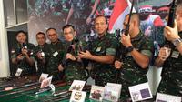 Gelar senjata di Kodam Cenderawasih. (Liputan6.com / Katharina Janur)