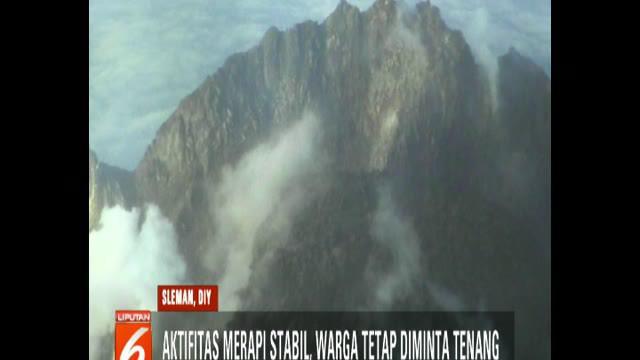 BPPTKG mengimbau warga tetap tenang, karena selain aktivitas Merapi masih stabil, guguran lava pijar juga sebagian besar terjadi di dalam kubahnya.
