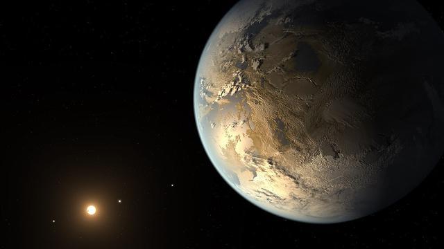 Ilustrasi planet alien Kepler-186f yang diyakini sebagai kembaran Bumi (NASA Ames/SETI Institute/JPL-Caltech)