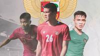 Timnas Indonesia - Saddil Ramdani, Kelana Mahessa, Brylian Aldama (Bola.com/Adreanus Titus)