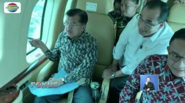 Pagi tadi (28/1), Wapres JK memantau kemacetan yang terjadi di wilayah Jakarta, Bogor, Depok, Tangerang, dan Bekasi, dengan menggunakan helikopter TNI AU.