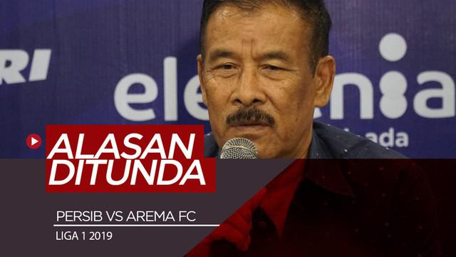 Berita video Manajer Persib Bandung, Umuh Muchtar, memberikan alasan pertandingan tim Maung Bandung melawan Arema FC di Liga 1 2019 ditunda.