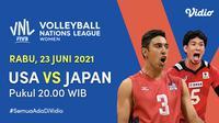 Link Live Streaming Big Match VNL 2021 di Vidio Rabu 23 Juni 2021. (Sumber : dok. vidio.com)