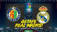 La Liga: Getafe vs Real Madrid. (Bola.com/Dody Iryawan)