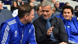 Tottenham menjadi klub Inggris ketiga yang dilatih oleh Jose Mourinho dimana Chelsea menjadi klub pertama yang dibesut oleh manajer asal Portugal tersebut. (AFP/Ben Stansall)