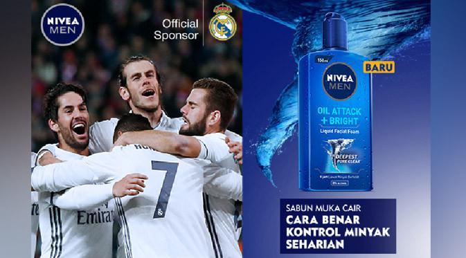 Sejak bulan Juli lalu, NIVEA MEN resmi menjadi official sponsor klub sepakbola tersukses dalam sejarah yakni Real Madrid.