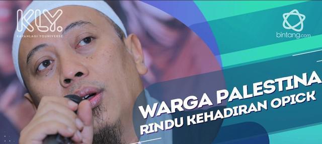 Opick Senang Lihat Antusias Warga Palestina Terhadap Masyarakat Indonesia.