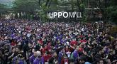Ribuan pelari mengikuti Batman Run Series di Jakarta Barat; Minggu (1/12). Acara ini merupakan kerjasama antara Indofunrun dengan Lippo Mall Puri. (Dokumentasi Indofunrun)