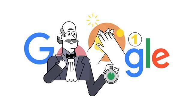 Google Doodle Tampilkan Ignaz Semmelweis. Dok: Google