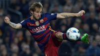 Ivan Rakitic adalah kapten Sevilla sebelum bergabung dengan Barcelona tahun 2014. Rakitic berperan sangat penting di lapangan tengah Barcelona saat ini. (AFP/Lluis Gene)