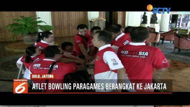 Usai lakukan pemusatan latihan di Solo, atlet bowling Indonesia berangkat ke Jakarta untuk adaptasi venue di Ancol.