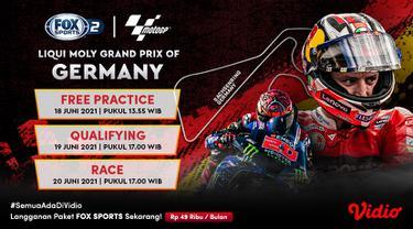 Live Streaming MotoGP 2021 Seri Jerman di FOX Sports Eksklusif Melalui Vidio, 18-20 Juni