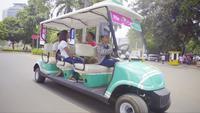 Mobil Golf yang disediakan Grab untuk perhelatan Asian Para Games 2018. (Grab)