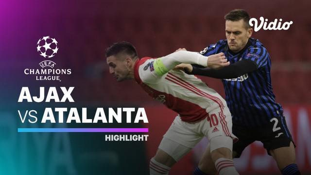 Berita video highlights matchday 6 Grup D Liga Champions 2020/2021 antara Ajax melawan Atalanta yang berakhir dengan skor 0-1, di mana Luis Muriel pencetak gol tunggal tersebut, Kamis (10/12/2020) dinihari WIB.