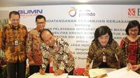 PT Bank Negara Indonesia (Persero) Tbk atau BNI memperluas bisnis di industri asuransi dengan menggandeng PT Asuransi Jasa Indonesia (Persero) atau Jasindo. Dok BNI