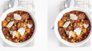 Speedy meatball stew