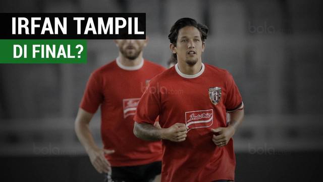 Irfan Bachdim terlihat kembali latihan bersama Bali United jelang final Piala Presiden 2018 melawan Persija Jakarta.