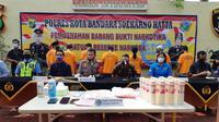 Polisi Musnahkan Sabu dan Ekstasi Selundupan di Bandara Soetta (Foto:Liputan6/Pramita Tristiawati)