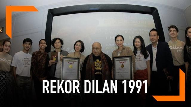 Film Dilan 1991 berhasil memecahkan dua rekor MURI sekaligus. Apa sajakah rekor tersebut?