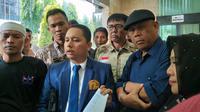 Politikus PAN Eggi Sudjana melaporkan Politikus PDIP Kapitra Ampera ke Bareskrim Polri (Merdeka.com/ Intan Umbari)