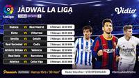 Pertandingan Liga Spanyol 2020/2021 pekan ke-22 dapat disaksikan melalui platform streaming Vidio. (Dok. Vidio)