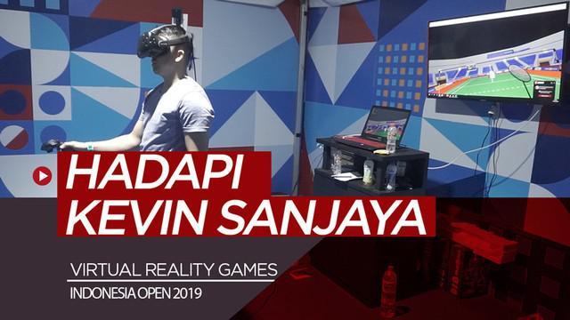Berita video sensasi virtual reality games di Indonesia Open 2019, di mana kita bisa merasakan bermain melawan Kevin Sanjaya.