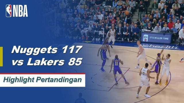 Paul Millsap menyelesaikan dengan 20 poin dan 11 rebound dan Jamal Murray menambah 20 poinnya sendiri saat Denver Nuggets menyerahkan Lakers kekalahan beruntun kedua mereka, 117-85.