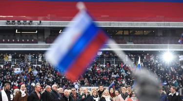 Jelang Pemilihan Presiden Rusia, Kampanye Vladimir Putin Dihadiri 130 Ribu Orang