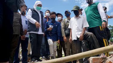 Gubernur Khofifah Temui Korban Gempa di Kampung Majangtengah
