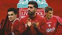 Liverpool - Philippe Coutinho, Emre Can, Michael Owen (Bola.com/Adreanus Titus)