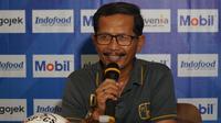 Pelatih Barito Putera Djadjang Nurdjaman. (Liputan6.com/Huyogo Simbolon)